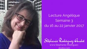 Lecture Angélique semaine 3 - du 16 au 22 janvier 2017
