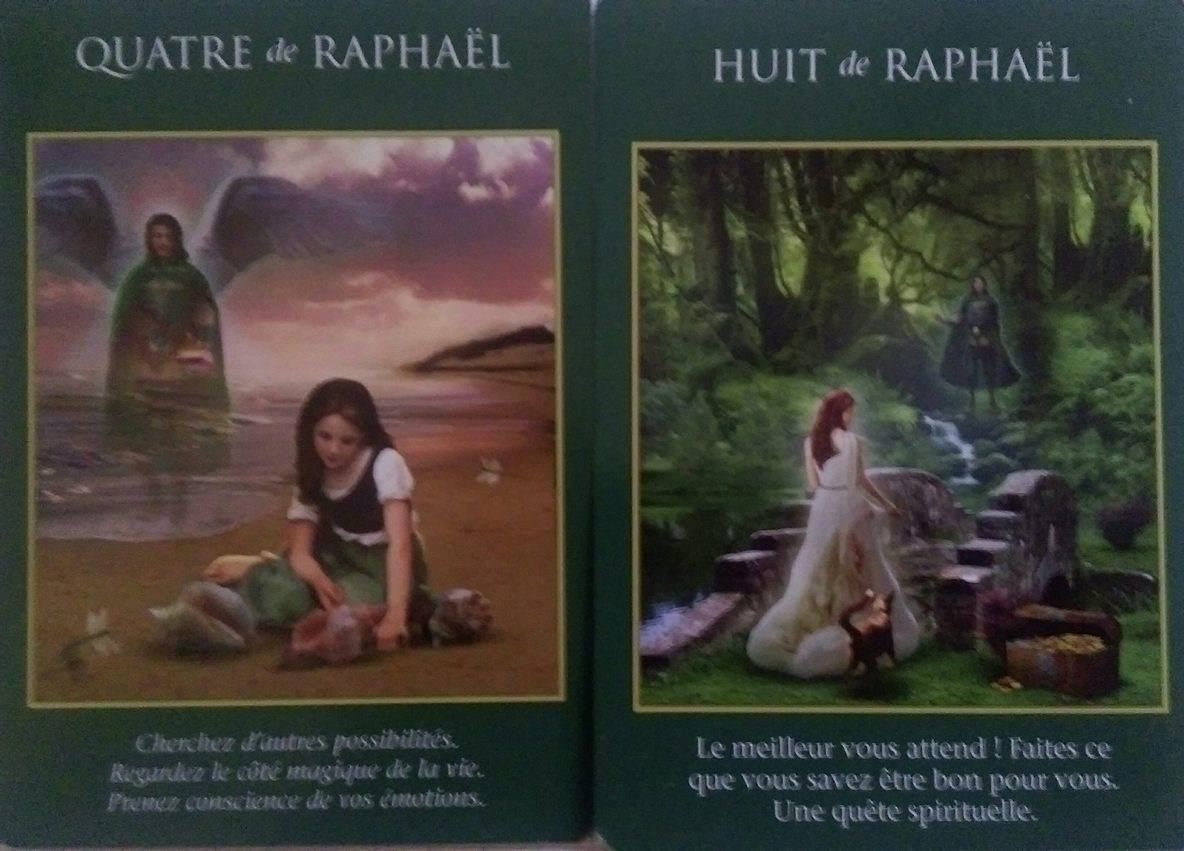 4 et 8 de Raphaël - Le Tarot des Archanges - Doreen Virtue