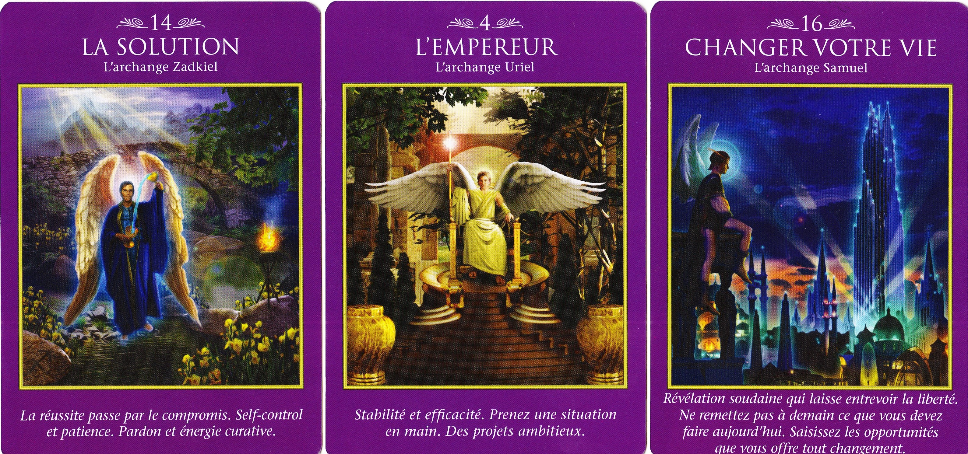 06-Solution Zadkiel - Empereur Uriel - changer vie Samuel - Le Tarot des Archanges - Doreen Virtue 001
