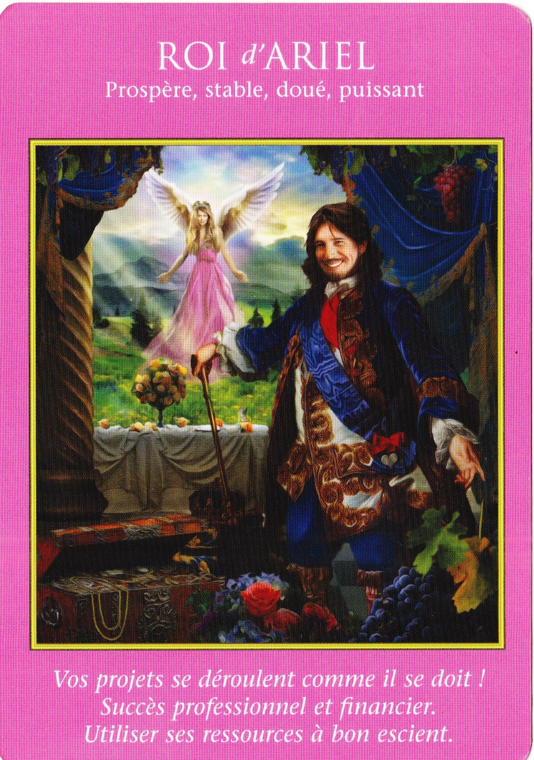Roi d'Ariel - Tarot des Archanges - Doreen Virtue