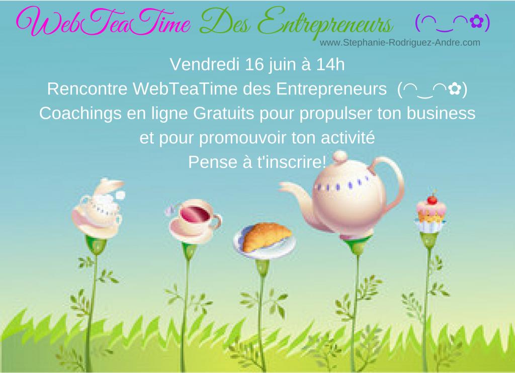 WebTeaTime des Entrepreneures - Stéphanie Rodriguez-André