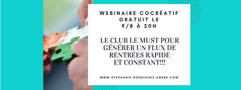 événement FaceBook - le club idéal pour générer un flux de rentrées constant - Stéphanie Rodriguez-André