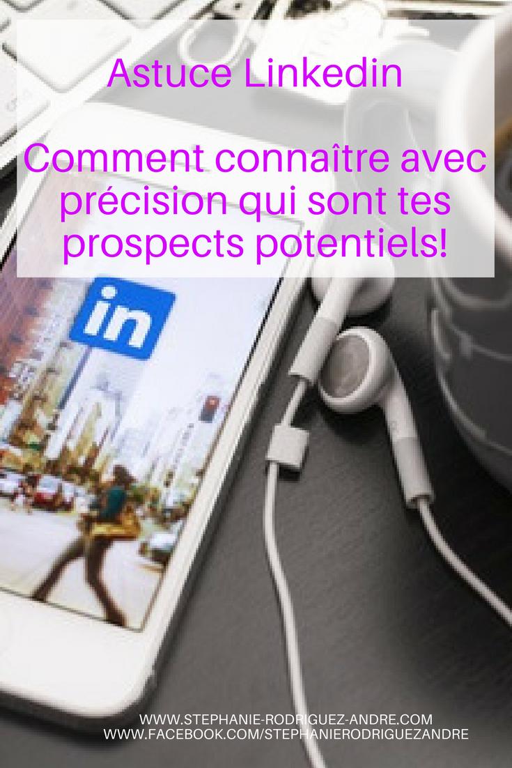 Astuce linkedin - Stéphanie Rodriguez-André - pour Pinterest
